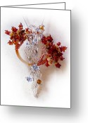 Silver Jewelry Greeting Cards - Niagra Fall Greeting Card by Rhonda Chase