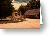 Horse And Buggy Greeting Cards - Nice And Easy Greeting Card by Lourry Legarde
