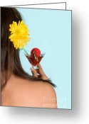 Summertime Drink Greeting Cards - Nice back Greeting Card by Anneke Schram