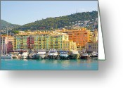 Nice Day Greeting Cards - Nice Harbour, Cote Dazur, France Greeting Card by John Harper