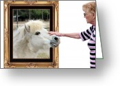 Out Of Frame Greeting Cards - Nice Horsey Greeting Card by Kristin Elmquist