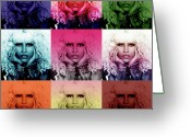 Hip-hop Greeting Cards - Nicki Minaj by GBS Greeting Card by Anibal Diaz