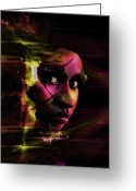 Nicki Minaj Greeting Cards - Nicki Minaj Dark Abstract Greeting Card by Anibal Diaz