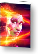 Nicki Minaj Greeting Cards - Nicki Minaj Light Abstract Greeting Card by Anibal Diaz