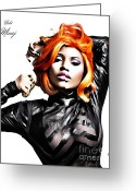 Lil Wayne Greeting Cards - Nicki Minaj Greeting Card by The DigArtisT