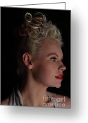 Grable Greeting Cards - Nicky does betty Greeting Card by EleGlance Photography