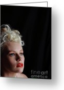 Grable Greeting Cards - Nicky Portrays Betty - 6 Greeting Card by EleGlance Photography