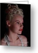 Grable Greeting Cards - Nicky portrays Betty 2 Greeting Card by EleGlance Photography