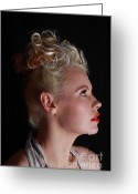 Grable Greeting Cards - Nicky portrays Betty Greeting Card by EleGlance Photography