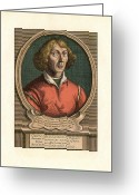 The Language Greeting Cards - Nicolaus Copernicus, Polish Astronomer Greeting Card by Detlev Van Ravenswaay
