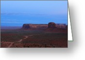 John Wayne Greeting Cards - Night at Monument Valley Greeting Card by Viktor Savchenko
