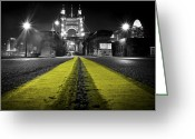 Ohio Greeting Cards - Night Bridge Greeting Card by Keith Allen