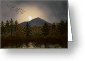 Moonrise Greeting Cards - Night Calls Greeting Card by Frank Wilson