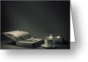Reading Greeting Cards - Night Cap Greeting Card by Ian Barber