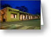 Housing Greeting Cards - Night Falls On The Palace Of The Greeting Card by Stephen St. John