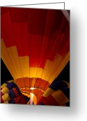 Silk Greeting Cards - Night Flight Greeting Card by Mike  Dawson
