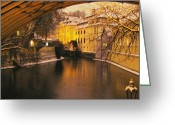 Oil Lamp Greeting Cards - Night in Prague Greeting Card by Gianluca Sommella