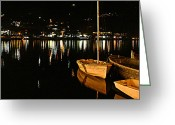 Nainital Photo Greeting Cards - Night Lights Greeting Card by Greg Palmer