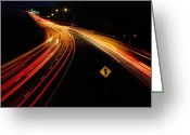 Interstate Greeting Cards - Night Moves Greeting Card by Lori Deiter