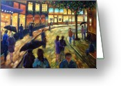 Flowers Direct Greeting Cards - Night on the town Greeting Card by Richard T Pranke