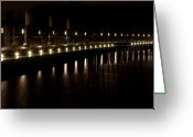 Denmark Greeting Cards - Night Promenade Greeting Card by Gert Lavsen