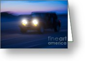 Four-wheel Greeting Cards - Night Rider Greeting Card by John Greim