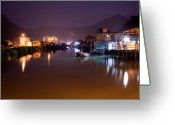 Tai Greeting Cards - Night Scene Greeting Card by Kam Chuen Dung