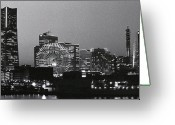 Arts Culture And Entertainment Greeting Cards - Night Scene Of Yokohama Greeting Card by Snap Shooter jp