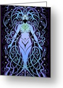 Spirituality Digital Art Greeting Cards - Night Song Greeting Card by Cristina McAllister