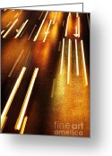 Stripes Greeting Cards - Night Traffic Greeting Card by Carlos Caetano