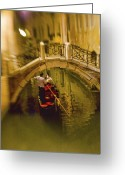 Vacationers Greeting Cards - Night Traveler Greeting Card by Eggers   Photography