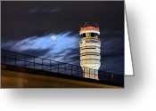 Pilots Greeting Cards - Night Watch Greeting Card by JC Findley