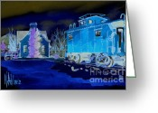 Air Mixed Media Greeting Cards - Night Watch  Greeting Card by Kip DeVore
