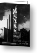 San Rafael Greeting Cards - Nightfall At The Lark - Larkspur California - 5D18482 - Black and White Greeting Card by Wingsdomain Art and Photography