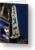Musicals Greeting Cards - Nightfall at The Orpheum - San Francisco California - 5D17991 Greeting Card by Wingsdomain Art and Photography