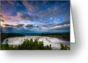 Mohawk Greeting Cards - Nightfalls Greeting Card by Neil Shapiro