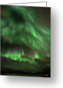 Aurora Borealis Greeting Cards - Nightsky Greeting Card by John Hemmingsen
