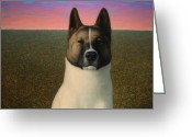 James Greeting Cards - Nikita Greeting Card by James W Johnson