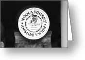 Whiskey Greeting Cards - Nikka Whiskey Barrell Greeting Card by Irina  March