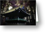 Old Pathway Greeting Cards - Nikko Architectural Detail Greeting Card by Irina  March