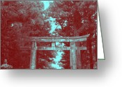 Old Pathway Greeting Cards - Nikko Gate Greeting Card by Irina  March