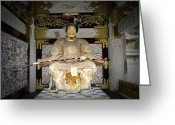 Old Pathway Greeting Cards - Nikko Golden Sculpture Front Greeting Card by Irina  March