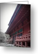 Monastery Greeting Cards - Nikko Monastery Greeting Card by Irina  March