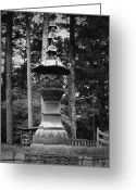 Old Pathway Greeting Cards - Nikko Sculpture Greeting Card by Irina  March