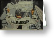 Championship Drawings Greeting Cards - Niklas Hjalmarsson Greeting Card by Brian Schuster