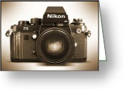 Camera Digital Art Greeting Cards - Nikon F3 HP Greeting Card by Mike McGlothlen