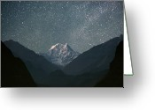 Night Scene Greeting Cards - Nilgiri South (6839 M) Greeting Card by Anton Jankovoy