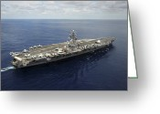 Aircraft Carrier Greeting Cards - Nimitz-class Aircraft Carrier Uss Greeting Card by Stocktrek Images