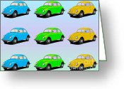Beetles Greeting Cards - Nine Greeting Card by Cheryl Young