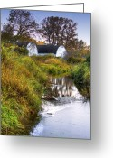 Olympia Greeting Cards - Nisqually Wildlife Refuge P21 The Twin Barns Greeting Card by David Patterson
